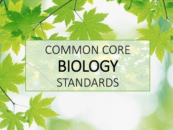Common Core Biology maple leaves