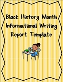 Common Core Black History Month Research Report Template