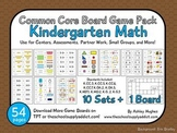 Common Core Board Game Pack: Kindergarten Math {A Hughes Design}