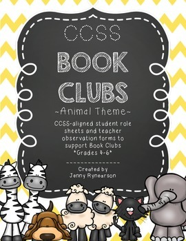 Common Core Book Clubs! Student & Teacher Pages! Animals T