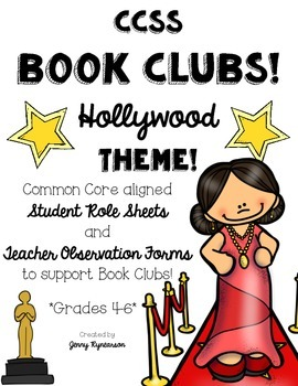 Common Core Book Clubs! Student & Teacher Pages! Hollywood