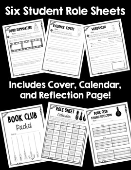 Common Core Book Clubs! Student & Teacher Pages! Lightbulb Theme! {4-6 CCSS}