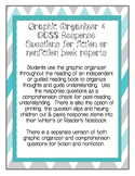 Common Core Book Report Graphic Organizer & Comprehension Questions