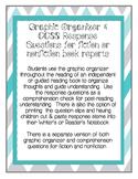 Common Core Book Report Graphic Organizer & Comprehension