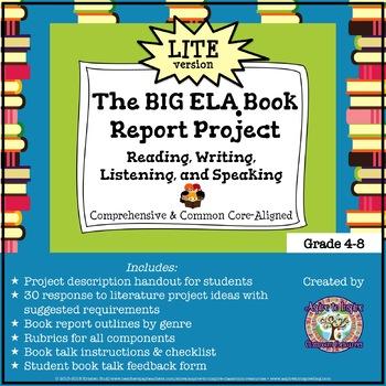 the big ela common core book report project lite readwritespeaklisten
