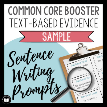 Common Core Booster: Text-Based Answers SAMPLE