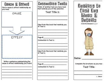 Common Core Brochures Pack for the Reading Standards