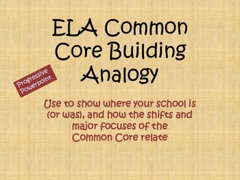 Common Core Building Analogy Graphic for Staff Development