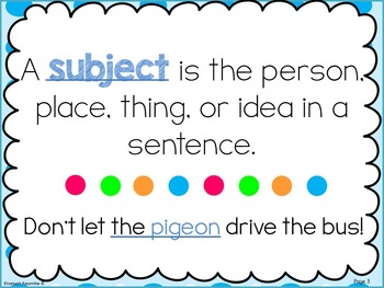 Complete Sentences with Pigeon