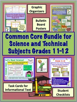 Common Core Bundle Grades 11 and 12 Science and Technical Subjects