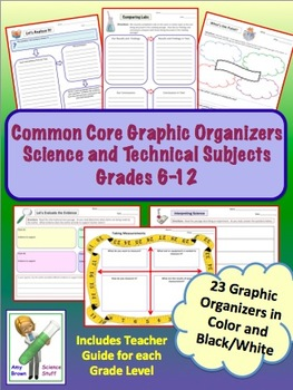 Common Core Bundle Grades 6 to 8 Science and Technical Subjects