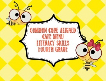 Common Core CAFE Menu skills 4th grade