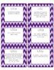 Common Core CCSS 5th Grade ELA Labels and Posters-Chevron