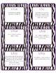 Common Core CCSS 5th Grade ELA Labels and Posters-Zebra