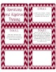 Common Core CCSS 5th Grade Math Labels and Posters-Chevron