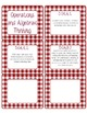 Common Core CCSS 5th Grade Math Labels and Posters-Gingham