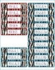 Common Core CCSS 8th Grade Math Labels and Posters-Zebra