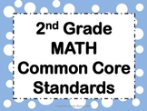 """Common Core CCSS """"I Can"""" Math Posters - 2nd Grade"""