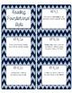 Common Core CCSS Kindergarten ELA Labels and Posters-Chevron Print
