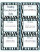 Common Core CCSS Kindergarten ELA Labels and Posters-Zebra Print