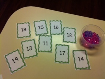 Common Core -CCSS {Kindergarten} - independent centers teaching teen numbers