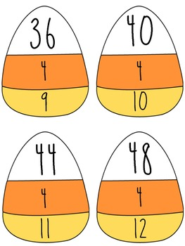 Common Core Candy Corn Fact Families