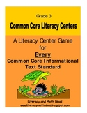 Common Core Centers for Every Informational Text Standard:  Grade 3
