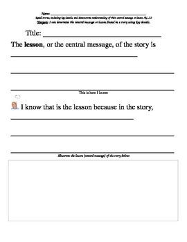 Common Core Central Message Graphic Organizer