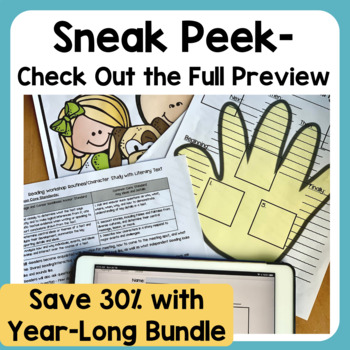 Character, Setting, and Events Unit Print and Digital for Distance Learning