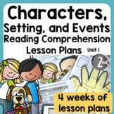 Character, Setting, and Events Unit | Print and Easel Ready