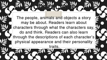 Common Core Character Traits Analysis with Text Evidence