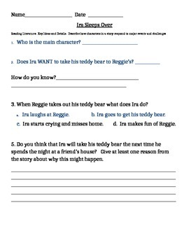 Common Core Characters Respond to Major Events - 3 Stories
