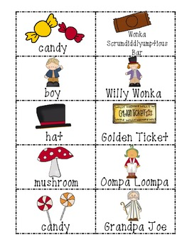 Common Core Charlie and the Chocolate Factory Noun and Proper Noun Sort