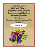 Common Core Charts, Organizers & Progress Forms For Each Standard:  Grade 8
