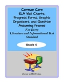Common Core Charts, Organizers & Progress Forms For Every Standard:  Grade 6