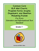 Common Core Charts, Organizers & Progress Forms For Every Standard:  Grade 7