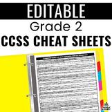 Common Core Cheat Sheets - Grade 2