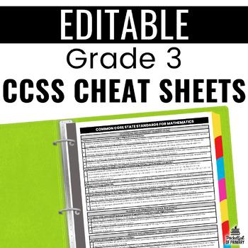 Common Core Cheat Sheets - Grade 3