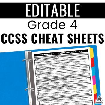 Common Core Cheat Sheets - Grade 4