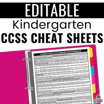 Common Core Cheat Sheets - Kindergarten