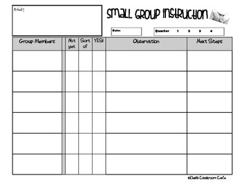 Common Core Check Sheet