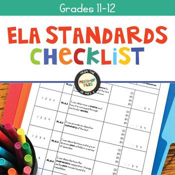 Common Core Checklist 11th - 12th Grades ELA