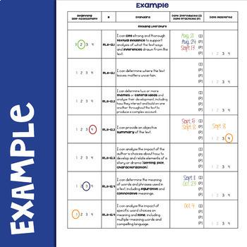 ELA Standards Checklist 11-12