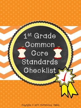 Common Core Checklist: 1st Grade MATH and ELA!
