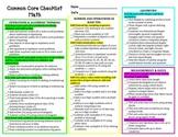 Common Core Checklist - 1st Grade Math Standards