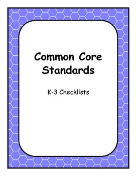 Common Core Checklist (BUNDLE)