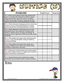 Common Core Checklist - 2nd Grade - ELA