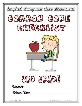 Common Core Checklist - 3rd Grade - ELA
