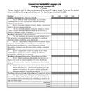 Common Core Checklist 4th Grade