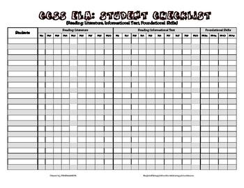 Common Core Checklist - 4th Grade - ELA